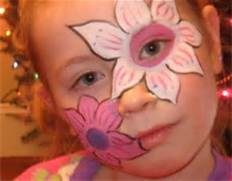 Child with face paint