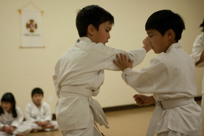 Kids practicing Kempo